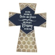 We Open Our Home in Love and Grace Tabletop Cross