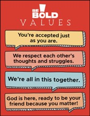 Be Bold Values Poster