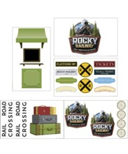 Rocky Railway: Giant Decorating Poster Pack (set of 5)