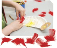 Rocky Railway: Red Craft Feathers (approx. 30 feathers)