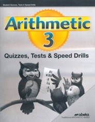 Abeka Arithmetic 3 Quizzes, Tests & Speed Drills, 5th Ed (2019)