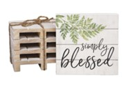 Simply Blessed Wood Coasters
