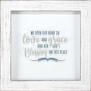 We Open Our Home in Love and Grace Framed Art