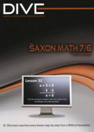 DIVE CD-Rom for Saxon Math 7/6, 4th Edition