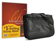 NIV Life Application Study Bible--hardcover with Bible cover