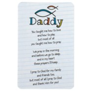 Daddy, You Taught Me How To Love Pocket Card