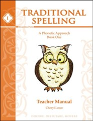 Traditional Spelling Book 1 Teacher Guide