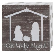 Oh Holy Night Box Wall Sign