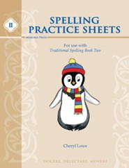 Traditional Spelling Book 2 Practice Sheets