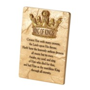 King of Kings Crown Him with Many Crowns Tabletop Plaque