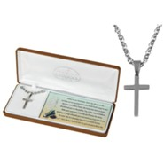 Footsteps for Children Stainless Steel Cross Necklace