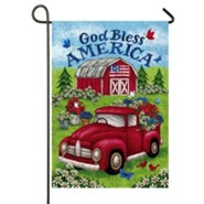 God Bless America, Truck and Barn, Flag, Small