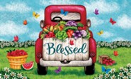 Blessed, Truck, Door Mat