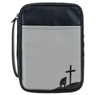 Man of God Bible Cover, Black and Grey, Large-Print