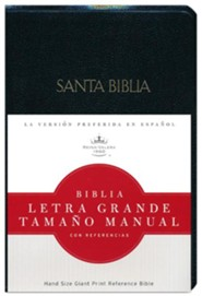 Imitation Leather Black Large Print Book Red Letter Spanish