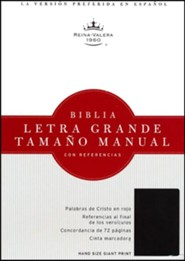 Bonded Leather Black Large Print Book Red Letter Spanish