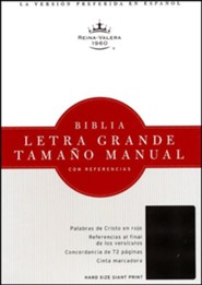 Bonded Leather Black Large Print Book Red Letter Thumb Index Spanish