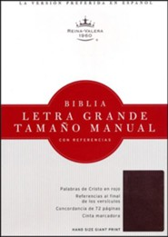 Bonded Leather Burgundy Large Print Book Red Letter Thumb Index Spanish