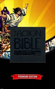 ESV Action Study Bible Boys, Virtual Leather, Slate Gray