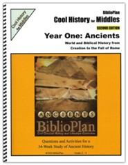 BiblioPlan's Cool History for Middles: Ancient History,  Grades 3-7 (2nd Edition)