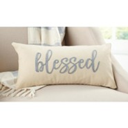 Blessed, Canvas And Felt Pillow