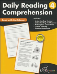Daily Reading Comprehension Workbook, Grade 4