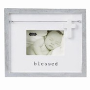 Blessed, Photo Frame With Wooden Cross Charm