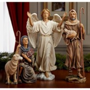 Real Life Nativity, 3 Piece Shepherds and Angel, 10.25-inch size