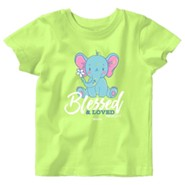 Baby Elephant Shirt, Key Lime, 24 Months