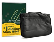 NLT Life Application Study Bible, hardcover with Bible cover