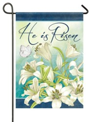 He Is Risen, Blooming Lilies, Flag, Small