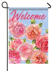 Welcome, Shades of Pink, Glitter Flag, Small