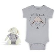Little Lamb Plush Snuggle Buddy & Romper Set