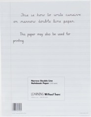 Narrow Notebook Paper, 100 Sheets--Grades 4 and up