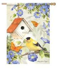 Goldfinch Birdsong Flag, Large