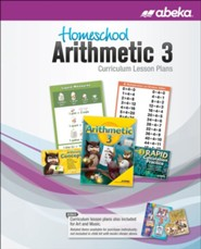 Abeka Homeschool Arithmetic 3 Curriculum Lesson Plans, 6th Ed (2019 Revision)