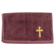 Cross Pastor Towel, Burgundy
