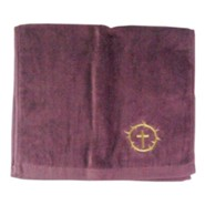 Crown and Cross Pastor Towel, Burgundy