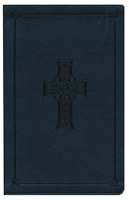 Imitation Leather Gray Book Black Letter Celtic Cross