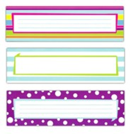 Happy Double-Sided Desk Tags/Name Plates (Pack of 36)