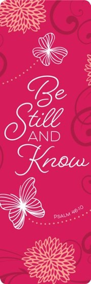 Be Still and Know - Faux Leather Bookmark