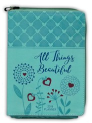 2019 All Things Beautiful - 16-Month Weekly Planner, Zipper  Closure