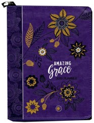 2019 Amazing Grace - 16-Month Weekly Planner, Faux  Leather, Zipper Closure