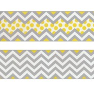 Chevron Beautiful Gray Double-Sided Border