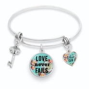 Love Never Fails Bangle Bracelet