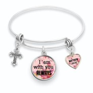 I Am With You Always Bangle Bracelet