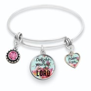 Delight Yourself in the Lord Bangle Bracelet