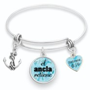 The Anchor Holds Bangle Bracelet, Spanish