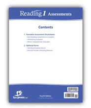 BJU Press Reading 1 Assessment Introduction (4th Edition)