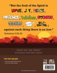 Fruit of the Spirit Sticker Poster Lessons on the Fruit of the Spirit from Acts